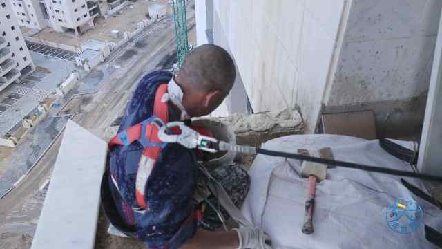 以色列的建筑工地没有安全网?
