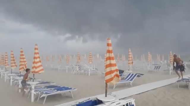 冰雹大如橙!意大利遭超强风暴袭击