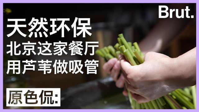 北京这家餐厅,用芦苇做手工吸管