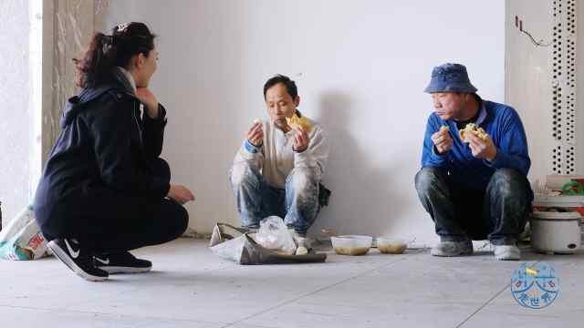 中国建筑工人在以色列,午餐吃什么