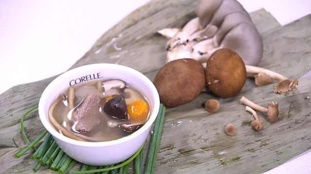 夏季温补美食什锦菌香牛肉汤